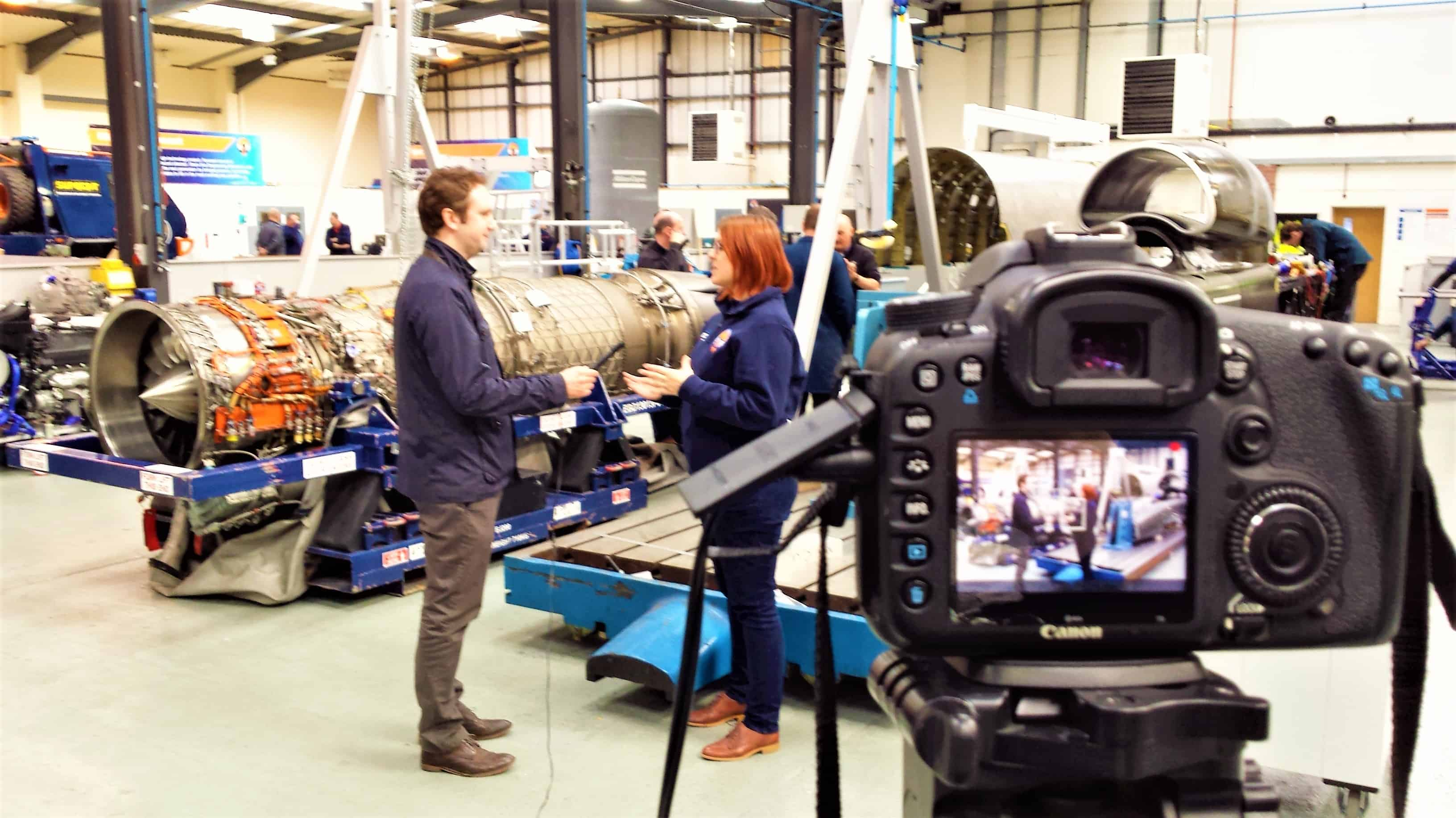 The MD of ReAgent visiting the BLOODHOUND Project's factory