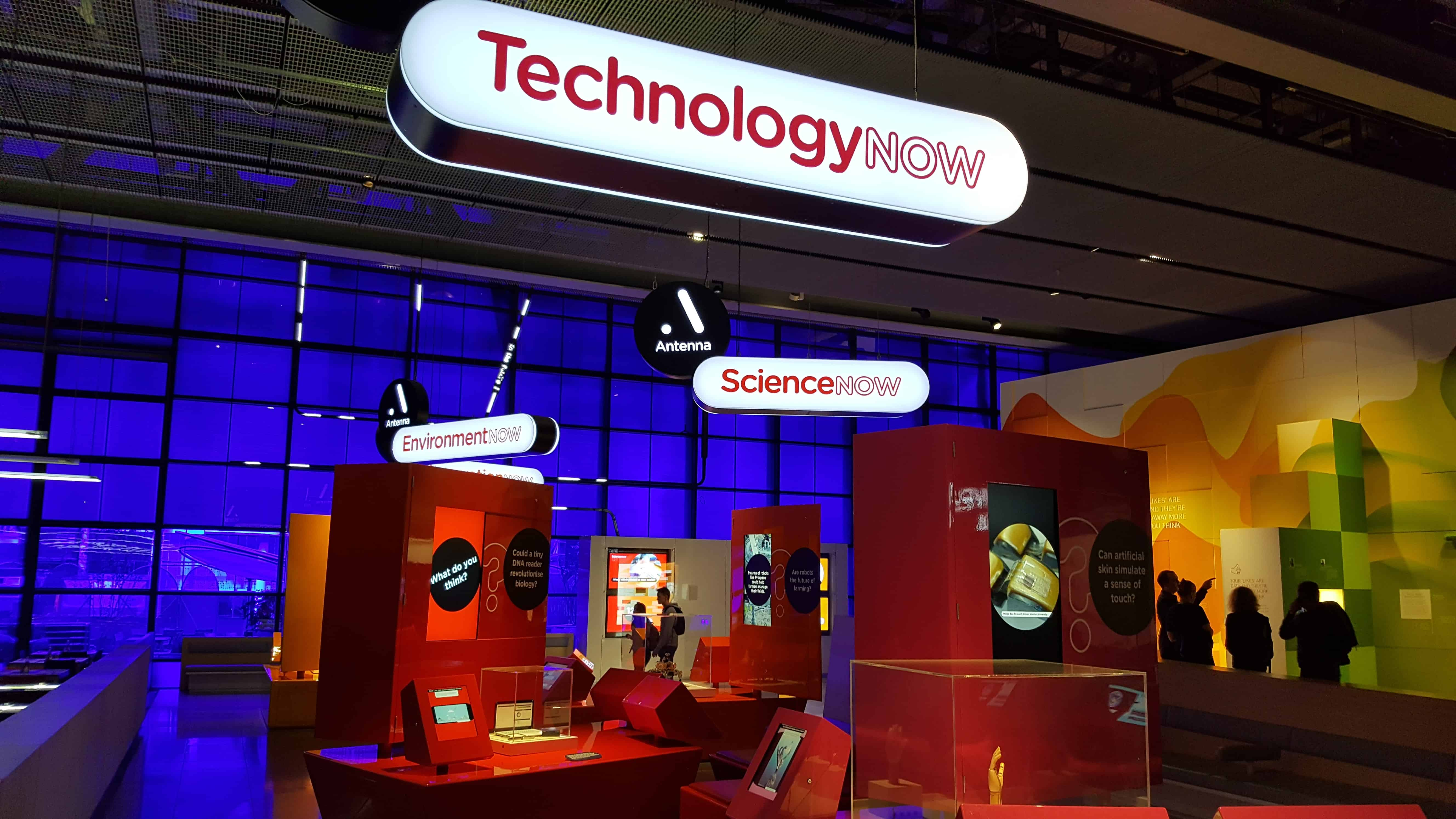 An image of a booth at the 'Our Lives in Data' exhibition at the Science Museum