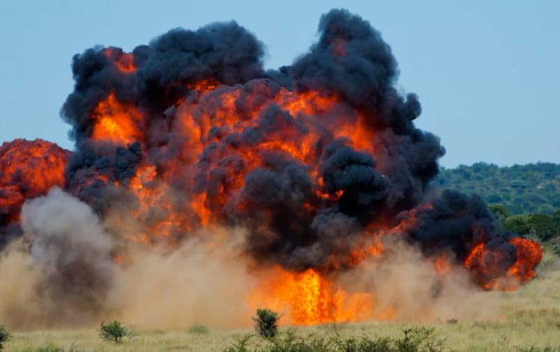 An explosion is an example of a fast chemical reaction