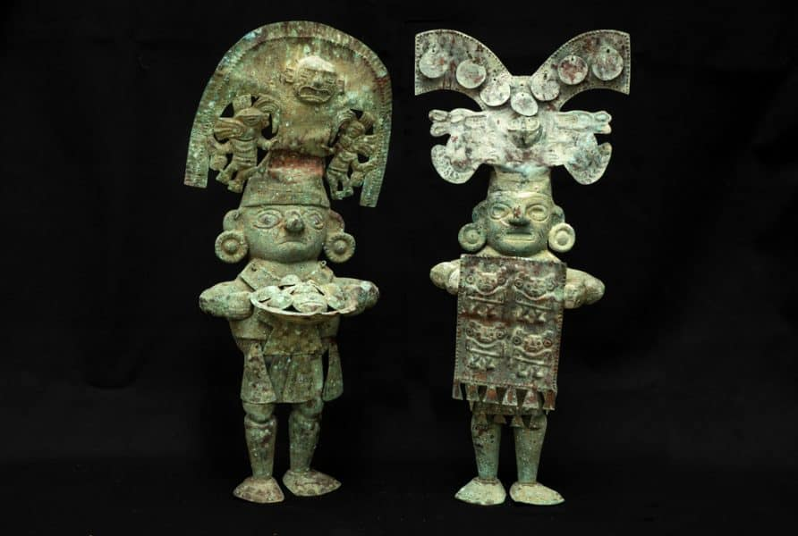 Copper figures from ancient Peru