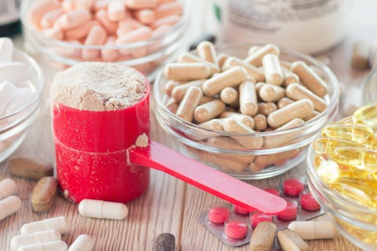 Diet supplements in powder and pill forms