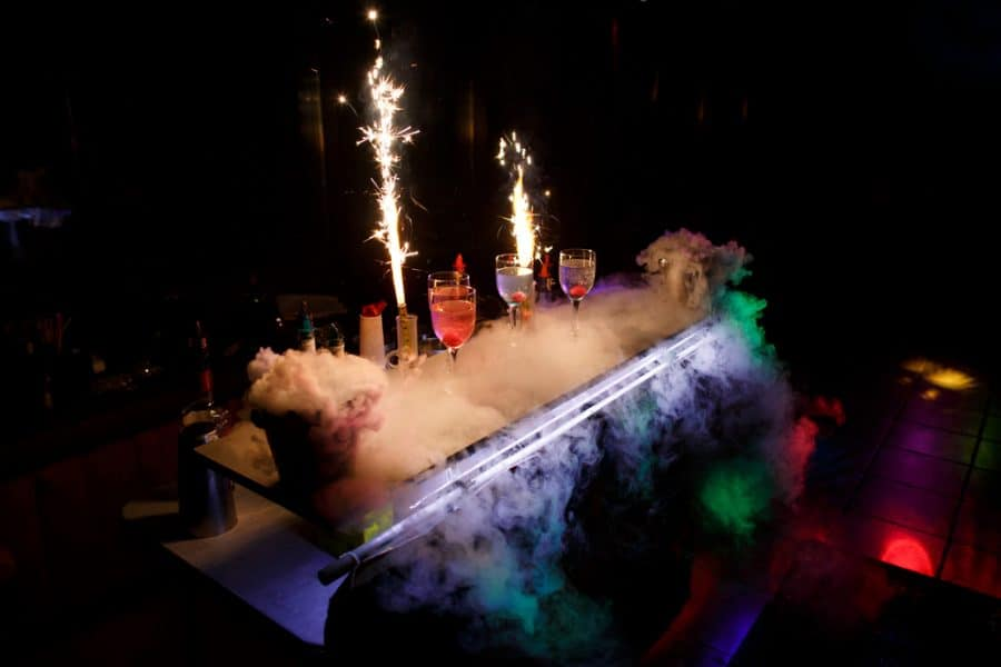 Halloween dry ice cocktails