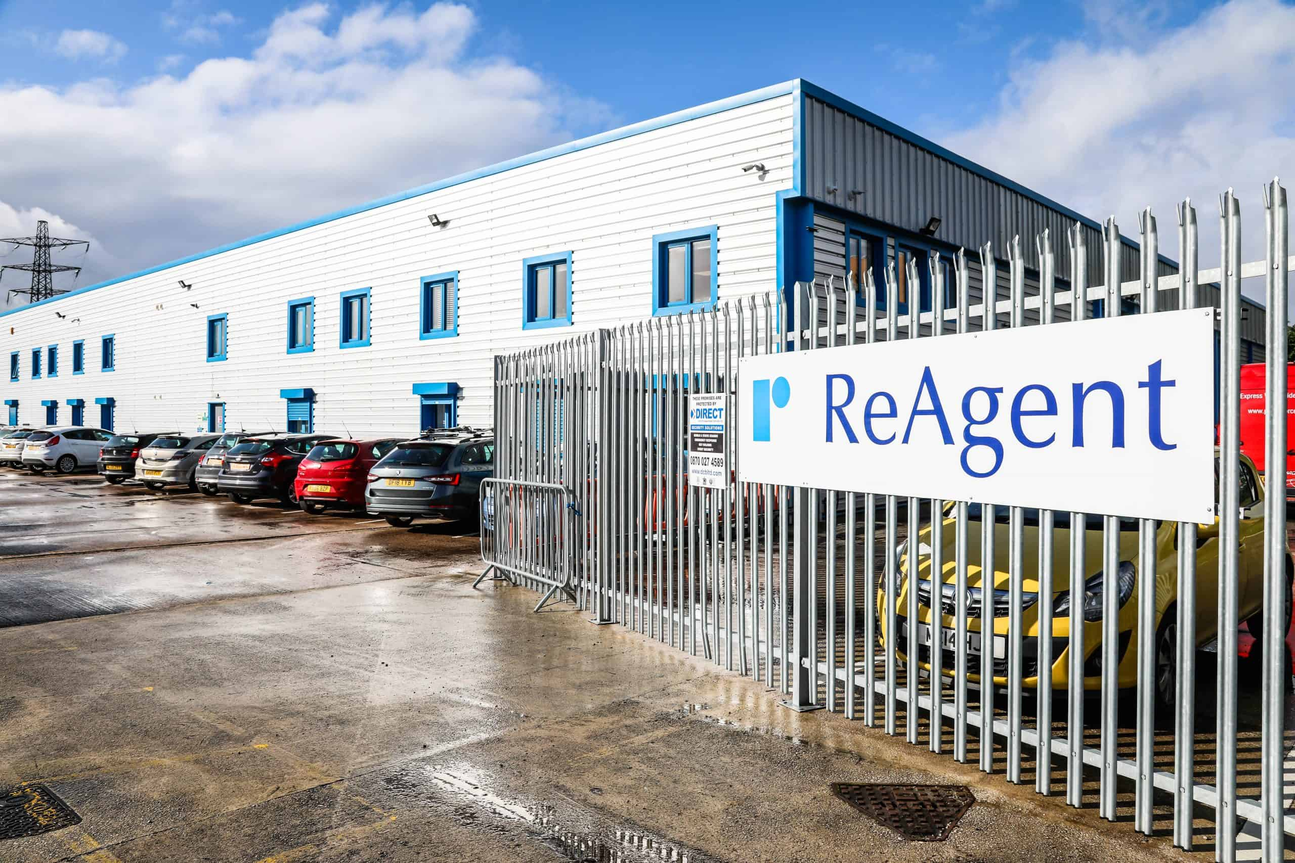 Exterior shot of ReAgent Ltd chemical manufacturing facility