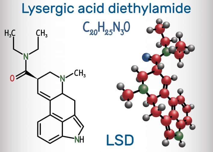 The chemical structure of LSD