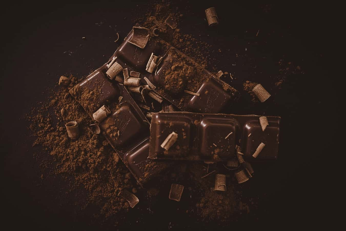 Chocolate pieces, which can be addictive and promote wellbeing