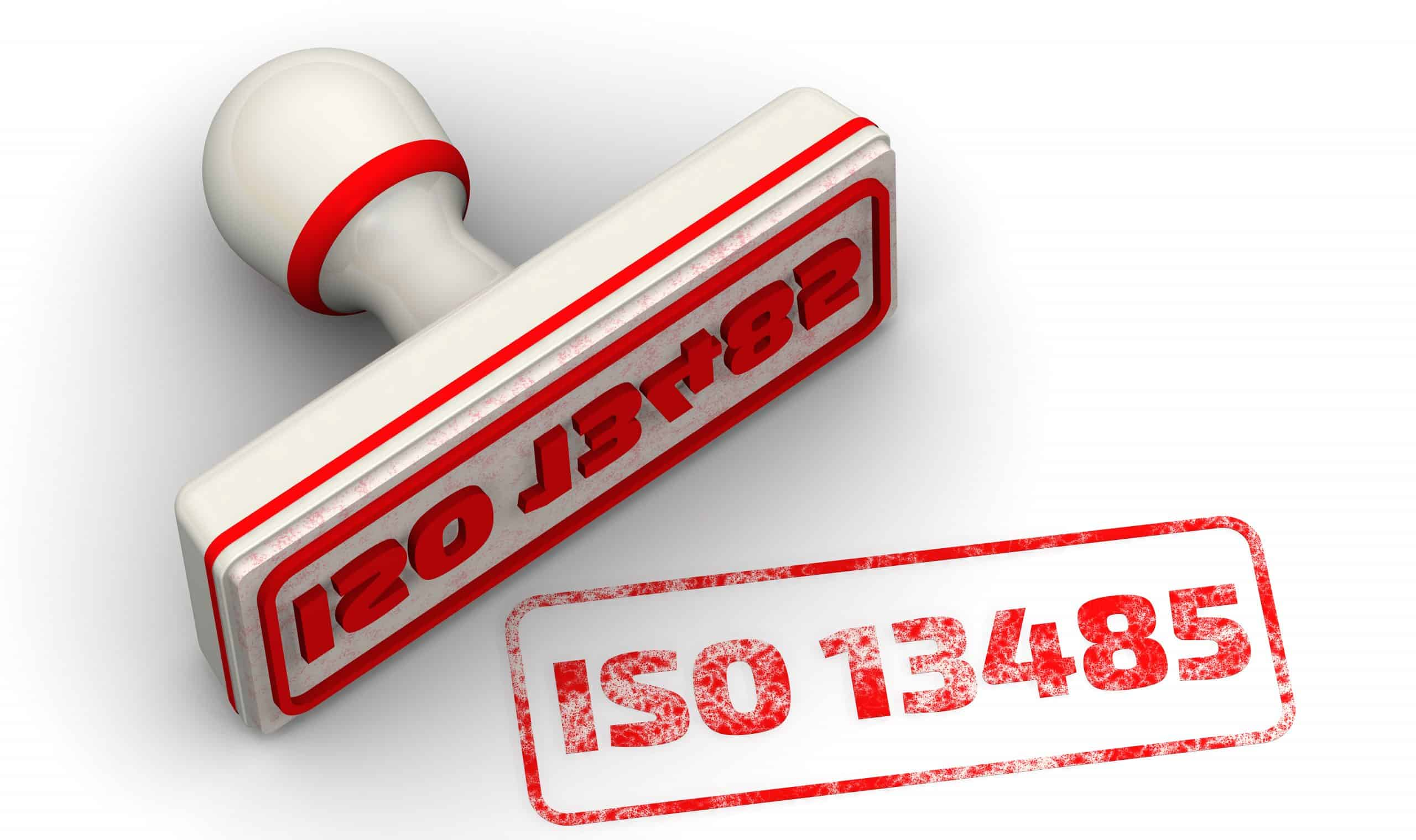 Red ISO 13485 seal stamp