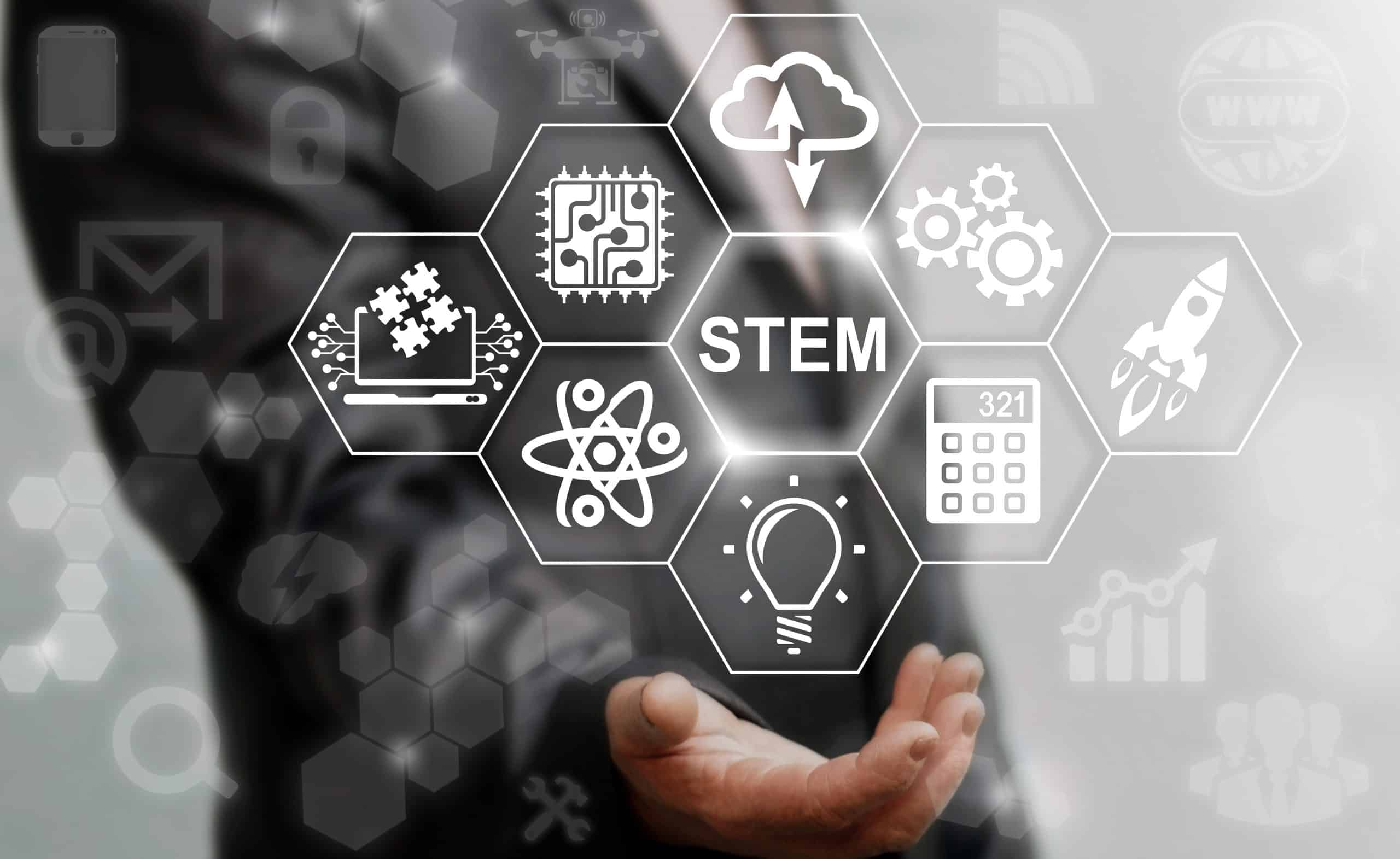 Science Technology Engineering Math education web icon