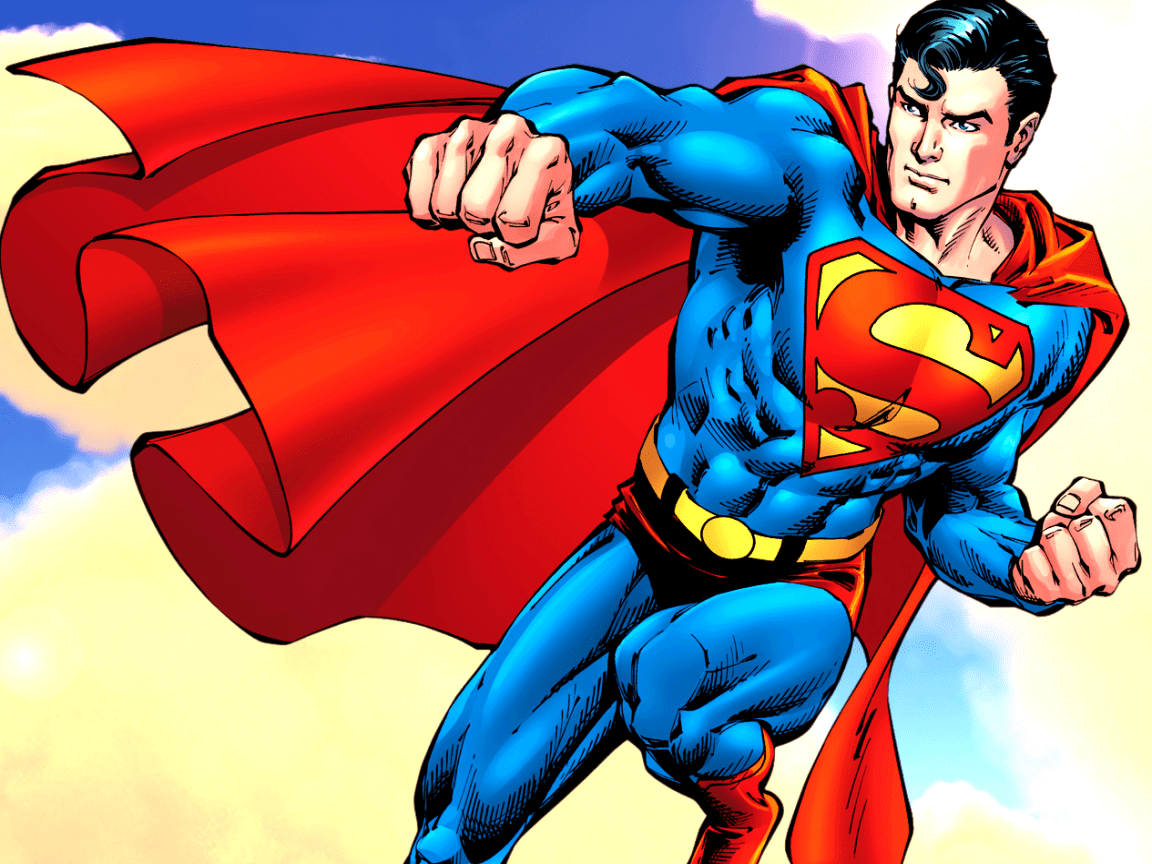 Cartoon picture of Superman